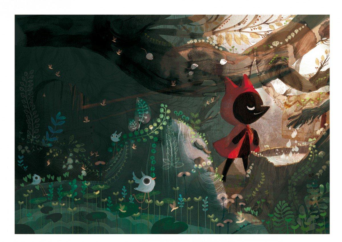 This Amélie Fléchais re-imagining of Little Red Riding Hood is gobsmackingly beautiful. English translation pls! https://t.co/mJ0UAztL9B