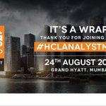 And that is a wrap at #HCLAnalystMeet. Heres a quick recap of the event in pictures! https://t.co/GFFquhuWSY