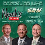 Come out to @NewksLwrncville for Grizzlies LIVE today at NOON. Join @GDN_Production for lunch and a great show! https://t.co/RwaqeFv2aV