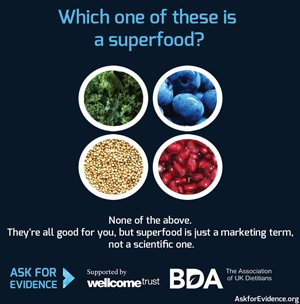 #Superfood is a marketing term, not a scientific one @senseaboutsci https://t.co/HfsTAEEinw