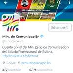 Al igual que la cuenta @evoespueblo, la cuenta @mincombolivia ya se encuentra verificada por @twitter. https://t.co/bNJrw5UlWi