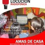 Interesante taller de locución radiofónica... #ElAlto #Bolivia https://t.co/8LD9NIpCBh
