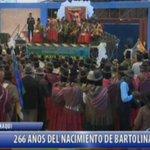 #AHORA I En honor a los 266 años de nacimiento de #BartolinaSisa el Pdte.@evoespueblo entrega Coliseo en #Sapahaqui https://t.co/wJNObDWWRN