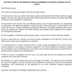 Business Leadership South Africa send this open letter to the president. #Gordhan https://t.co/9thwLjtY63
