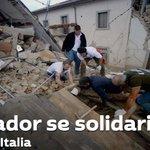 Ecuador expresa su solidaridad por sismo ocurrido en Italia https://t.co/uNYD2yrXYz https://t.co/Xu9n3qej1j