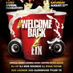 #WelcomeBack2ETX will be 🔥🔥🔥🔥 Saturday #WePromoteENT @TJones__400 crank up ‼️ https://t.co/74EutVwvPW