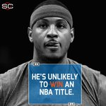 Syracuse coach Jim Boeheim offers his prediction for the rest of Carmelo Anthonys NBA career. https://t.co/i74CqDUq1I
