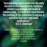 Tomorrow #LDSB teachers look at ways to increase student engagement thru social media #BackToSchool #learningbydoing https://t.co/nzuIoMVLF1