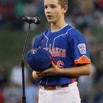 Drew Wolfram delivers Little League Player pledge https://t.co/t36yzliacu