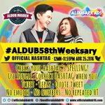 When d world is upside down Ill be der to hold u N protect U OMG happy 58th ADN more power to us #ALDUB58thWeeksary https://t.co/dDD49uS3tx