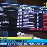 Continúan suspendidas las salidas de buses de la terminal de #LaPaz https://t.co/krrxaaHuSW https://t.co/fpHORDLYde