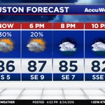 Good afternoon! Heres your hour-by-hour evening forecast from #abc13. #Houston #TXwx https://t.co/WjUDLYKVan