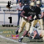 Just one week until the @Wofford_FB season opener at Tennessee Tech! Are you ready? #FCS #SoConFB https://t.co/AxrYUVUFRy