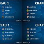 OFFICIEL ! La composition des 4 chapeaux pour le tirage au sort des poules de la Ligue des Champions 2016/17. https://t.co/FNth6iFdHy