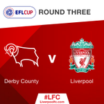 Its Derby County away for us in round three of the #EFLCup! https://t.co/x0hYpWBWyA