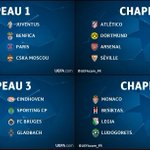 [#LDC] OFFICIEL | Les 4 chapeaux de Ligue des Champions ! Tirage au sort jeudi. https://t.co/c7fU77gbxi