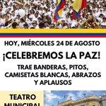 @CLOPEZanalista: regálanos un RT para que la gente de Cali sepa que aquí también diremos #AdiósALaGuerra 😁 https://t.co/lbuPj5VC3R