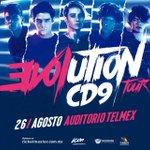Se presentan @CD9 el próximo 26 de agosto en el @AuditorioTelmex en Guadalajara. #Ventaneando https://t.co/6QoG6ieBpg