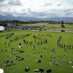 The Spirit of the West marching band practices near Yellowstone Hall during annual Move In Day at #MontanaState. https://t.co/xFvCp1VLO6