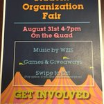 Dont miss the Student Organization Fair, 1 week from today! https://t.co/oDxNA22HKL