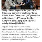 Bülent Ecevit Üniversitesi 15 Temmuz Kampüsü yapacakmış. Helal olsun!👏 https://t.co/ULlM8l8Wqu