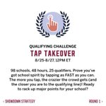 """Campus Showdown starts tomorrow Runners! """"Tap Takeover"""" is the qualifying round& Top 25 schools move on to round 1 https://t.co/sj4cvHJTIY"""