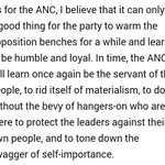 """The ANC will learn ... to do without hangers-on who protect leaders against their own people"" ~ Barney Pityana https://t.co/jeVuNiyUP8"