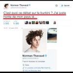 Norman, youtubeur, aime le #burkini. Quil en porte un et nhésite pas à quitter le pays. Personne ne le regrettera! https://t.co/HdlEcWuI2h