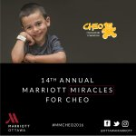 14th Miracles for #CHEO is back! #Ottawa: Grab a coffee @OttawaMarriott on Kent St this AM! #MMCHEO2016 @CMNCanada https://t.co/Q4CLPjmtAr