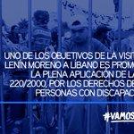 .@Lenin hizo un llamado para ratificar la Convención sobre Derechos de las Personas con Discapacidad #LenínEnLíbano https://t.co/lUfZetDxYB