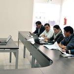Simulación de mesa, con hipóteis de sismo, con instituciones del Centro de Atención Ciudadana #Latacunga | #Cotopaxi https://t.co/A8xA4uWJR7