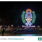 Escudo de la ciudad en la #PlazaIndependencia. Renovado: más luminoso, más lindo, más ecológico. https://t.co/8zb3GKKxMJ