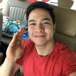 Good morning from the Pambansang Bae @aldenrichards02. Happy Weeksary! Hi @mainedcm WMY ❤️ #ALDUB58thWeeksary https://t.co/h382ma6Z0F