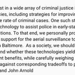 Just in: stmt from Texas donors who funded BPD undisclosed camera surveillance program https://t.co/YVZMkUAeG9