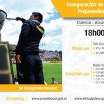 18h00 | Inauguración de los #JuegosNacionales Prejuveniles y Juveniles 2016 junto al Presidente @MashiRafael. https://t.co/YgfAzfTCts