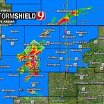 """5:38pm- Storm north of Enid now SEVERE. 1"""" hail & 70mph winds are possible as it moves northeast. #okwx @NEWS9 https://t.co/DEUR40L8al"""