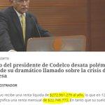 Si el sueldo bruto del presidente de Codelco es de $444 millones , ya sabemos el paradero de algunos putos pesos https://t.co/5aqd7EuFKZ