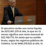 """Este es el presidente de Codelco, el mismo que dijo """"No hay un puto peso"""" #CareRaja https://t.co/mhisWV3egL"""