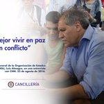 """""""Es mejor vivir en paz que en conflicto"""": @Almagro_OEA2015 #AdiosALaGuerra https://t.co/1XvlPxKnf3"""