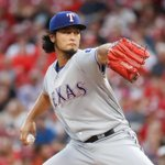 Yu Darvish just hit his 1st career MLB HR. He now has more hits (1) than hes given up tonight (0) through 4 IP. https://t.co/kS4q4nS15j