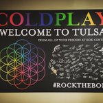 We are so excited to welcome @coldplay to #Tulsa tomorrow! #ColdplayTulsa #rocktheBOK https://t.co/vhwwXQ3IGk