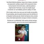 Para colaborar la dirección es Güemes 230 (Villaguay - Entre Ríos). Familia Soto. Tel: 03455 - 15464861 / 499585. https://t.co/54wWvaBVyB
