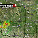 8:20pm- SW OK storms are barely severe as they move NE. More moving in from NW TX. Watching them! #okwx @NEWS9 https://t.co/WgAbKpRjox