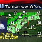 Good evening, heres what to expect tomorrow in #Oklahoma. kfor #OKWX https://t.co/Us11G8YwkW