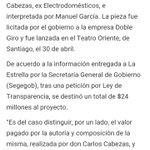 Gobierno de Bachelet revela q destinó $24millones a canción para el proceso constituyente. #NoHayUnPutoPeso ah bueno https://t.co/7i1ulmFxA6