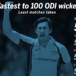 Mitchell Starc 100 ODI wickets in 52 matches.  Basant Regmi 100 OD wickets in 51 matches.  Truth is truth. :p https://t.co/WRdzDmXDgG