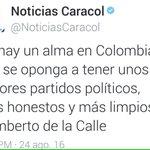 Este Humberto de la calle tiene que estar loco , los nuevos y honestos son los de las farc https://t.co/gHjaREwNPo