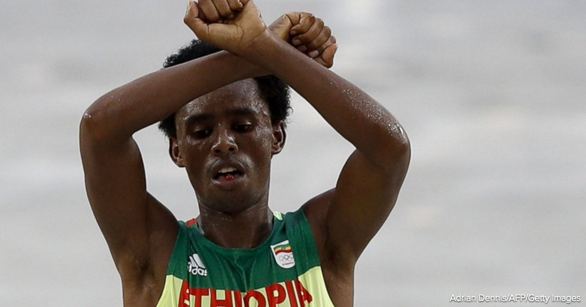 Olympic marathoner who defied Ethiopian gov't at finish line hasn't returned to home country https://t.co/dKfFVKkikU