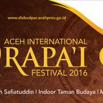 Mari sukseskan Aceh International Rapa'i Festival mulai 26-30 Agustus 2016. #thelightofaceh #acehrapaifest https://t.co/ZfqdmtDJWE