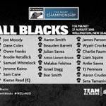 Here is your #AllBlacks 23 to face Australia in game two of the #BledisloeCup tonight.  #NZLvAUS https://t.co/9wpNDMmV1W